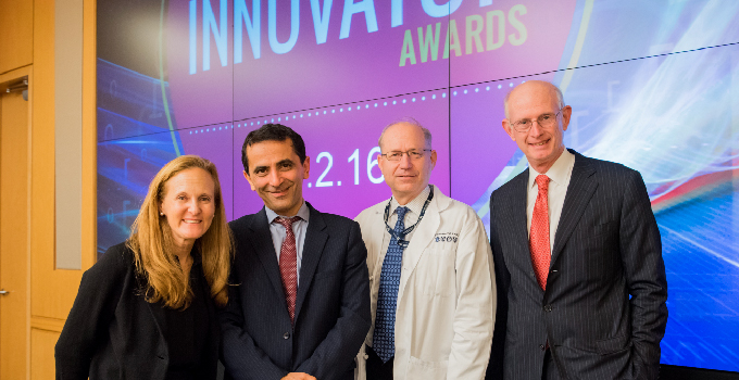Reza Abdi, MD (second from the left), winner of the Stepping Strong Innovator Award